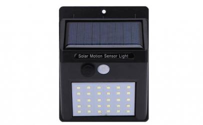 Set 3 lampi solare de perete cu senzor