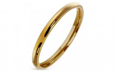 Inel auriu inox model verigheta 2 mm