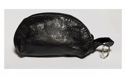 Portchei piele naturala Negru pentru