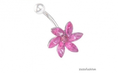 Piercing buric floare