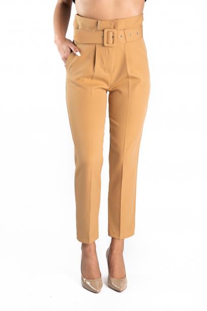 Pantaloni Dama Eleganti Crem Queen 36