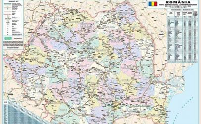 Harta Romania Administrativa