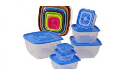 Set 7 caserole din plastic cu capac