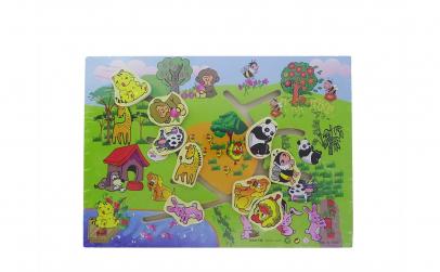 Labirint din lemn cu animale 35 cm