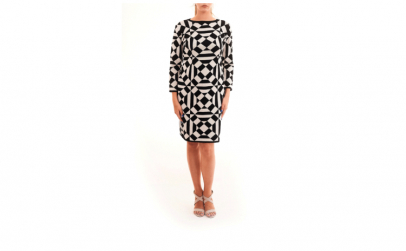 Rochie alb + negru