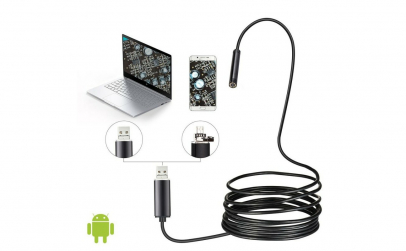 Camera endoscopica, LED, USB, 10 m