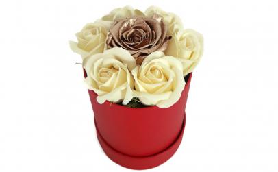 Trandafir criogenat auriu si de sapun