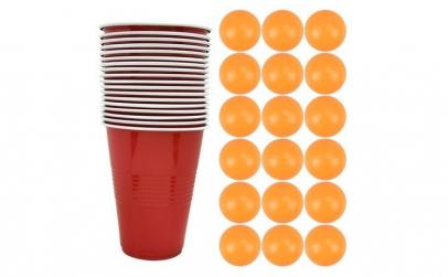 Joc de baut Beer Pong, pentru petreceri,