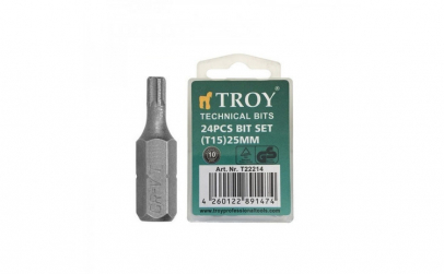 Set de biti torx Troy T22214, T15, 25