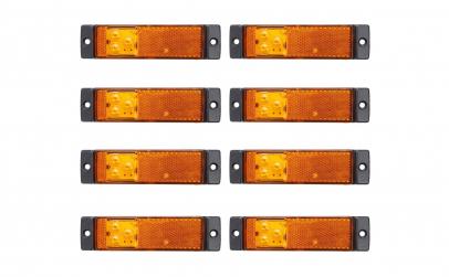 Set 8 lampi gabarit 130x32 cu 3 LED-uri