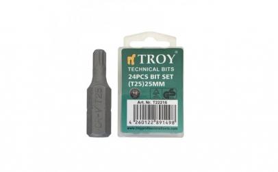 Set de biti torx Troy T22216, T25, 25