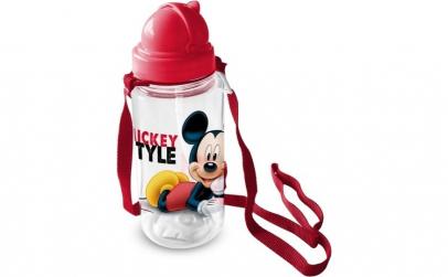 Sticla pentru copii Mickey cu pai, 450