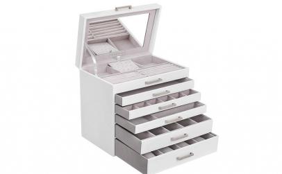Cutie bijuterii cu 6 niveluri 5 sertare