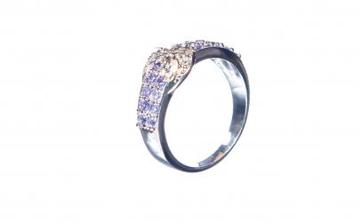 Inel din argint cu tanzanit