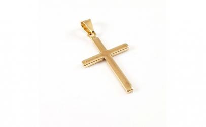 Cruciulita placata cu aur Bible