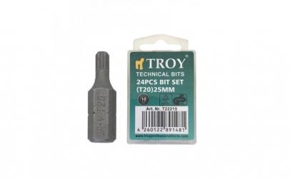Set de biti torx Troy T22215, T20, 25