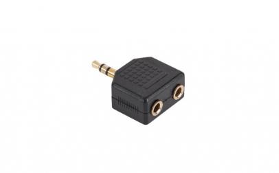 Adaptor jack 3,5mm stereo, tata - 2 x