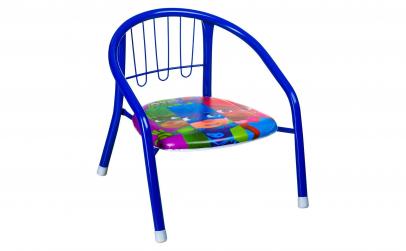 Scaun Copii metalic albastru