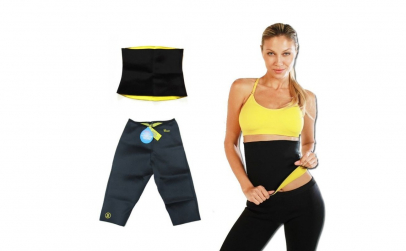 Pantaloni+centura de slabit din neopren