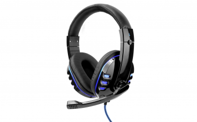 Casti gaming cu led