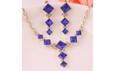 Set bijuterii fashion Blue Crystal