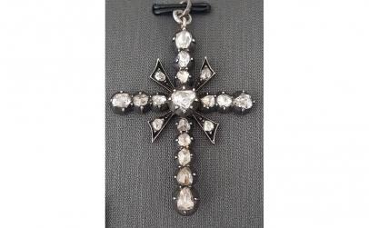 Cruce pandantiv din Argint cu Diamante