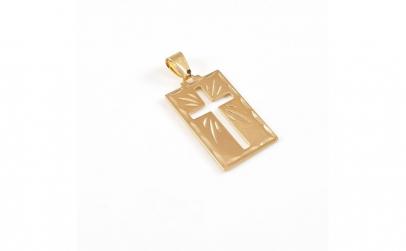 Cruciulita placata cu aur Saint
