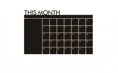 Sticker Autocolant  Calendar de tip