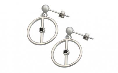 Cercei Argint 925, Model Cerc cu Onix