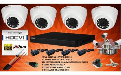 Sistem de supraveghere DAHUA 2MP, 4