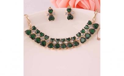 Set bijuterii fashion Heart Crystal