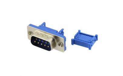 Conector DB9, tata, sertizare, pe cablu