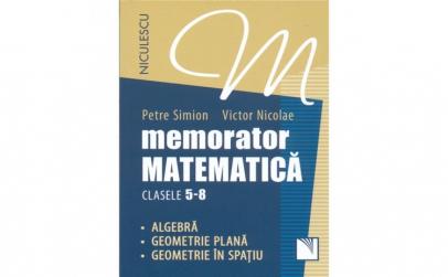Memorator. Matematica pentru clasele