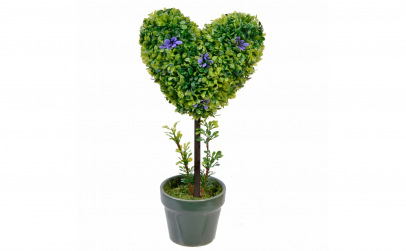 Bonsai din plastic in forma de inima