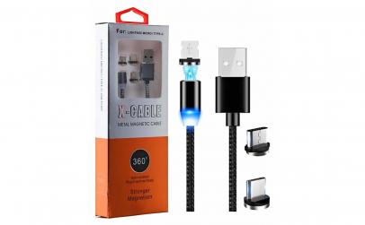 Cablu de incarcare magnetic 3 in1, X-Cab