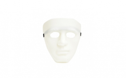 Masca Anonymous din plastic, alb