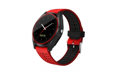 Smartwatch Bluetooth V9 Rosu Mrk