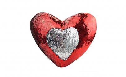 Perna decorativa cu paiete inima