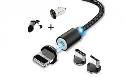 Pachet Incarcator auto + cablu + suport