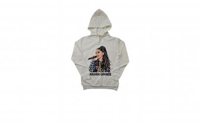 Hanorac vatuit Ariana Grande, cu gluga
