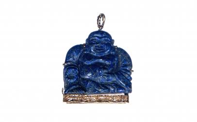Pandantiv Budda vesel - Lapis lazuli