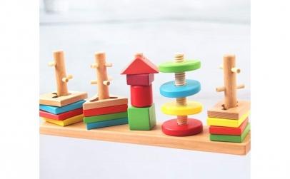 Joc Sortator - 5 coloane cu forme