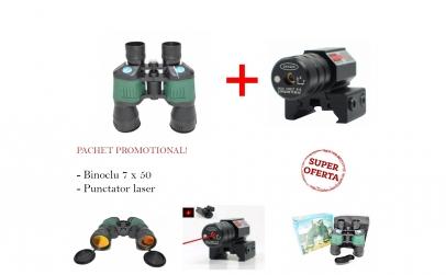 Punctator Laser + Binoclu 7 x 50