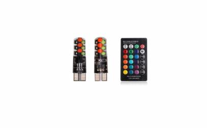 Set 2 x Bec Pozitie Colorat RGB
