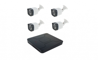 Kit DVR 4 canale, 4 camere supraveghere,