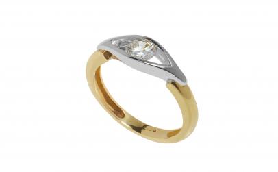 Inel din aur 14K, model de logodna