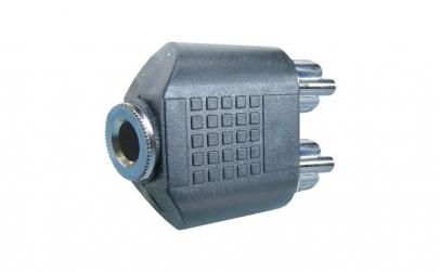 Adaptor jack mama 3,5 mm stereo - 2 x