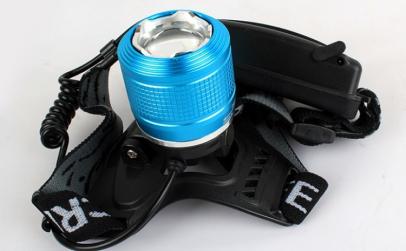 Lanterna Cap T6 Lumina Dubla