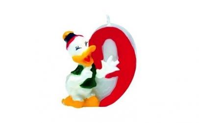 Lumanare tort cifra 9 Donald Duck