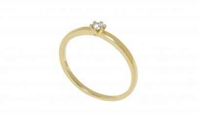 Inel de logodna aur 14k, diamant 0.05 ct